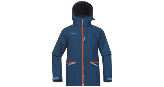 Bergans Youth Alme Insulated Jacket Dp Sea/Koi Orange/Br SeaBlue